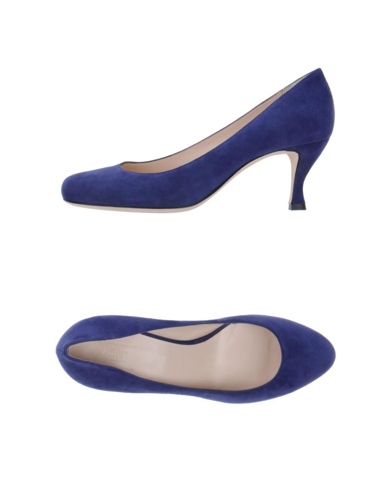 Armani Colezzione schicke pumps aus wildleder in blau fashion mode trends fashionscout365