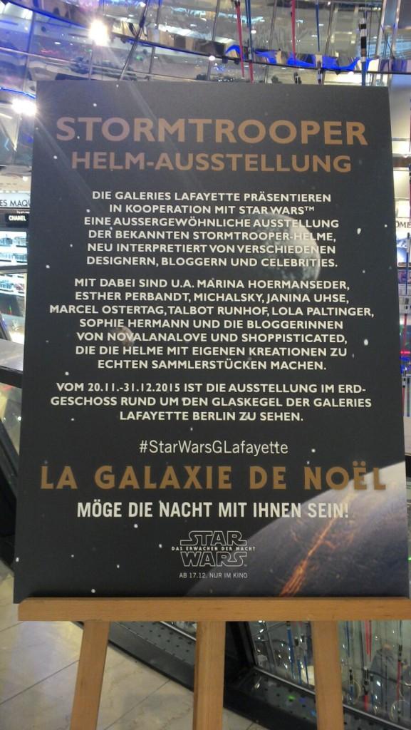 Star Wars-Ausstellung in der Galerie Lafayette in Berlin.