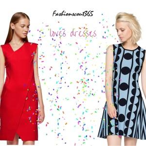 Collage mit zwei modischen Kleidern von Franch Connection im Angebot bei www.aboutyou.de