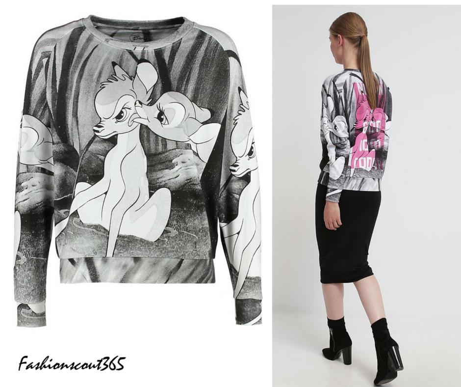 Brandneuer Look von Eleven Paris: Bambie-Sweatshirt mit dem Print-Spruch auf dem Rücken, via Zalando.
