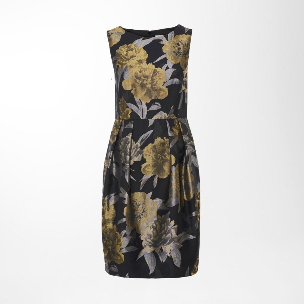 Hallhuber-Kleid mit Blumen-Print für den femininen Silvester-Look.