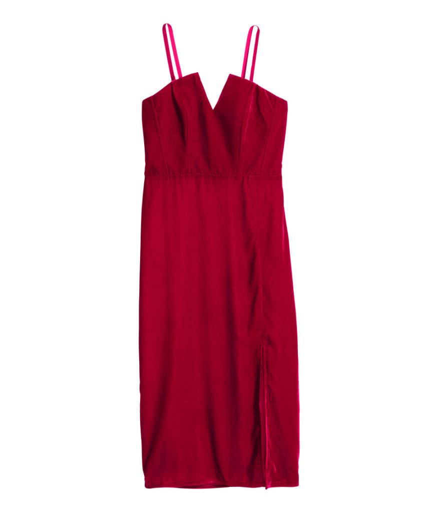 Samt-Kleid von H&M, für den eleganten Silvester-Auftritt.