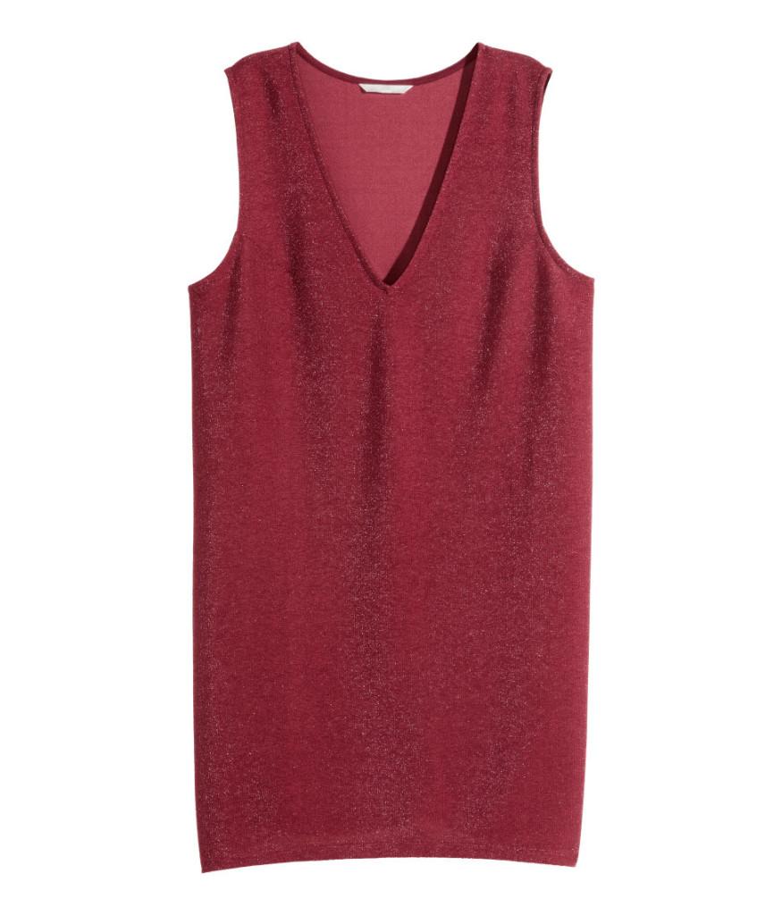 Glitzernes Hemd-Kleid von H&M für den stilvollen Silvester-Party-Outfit.