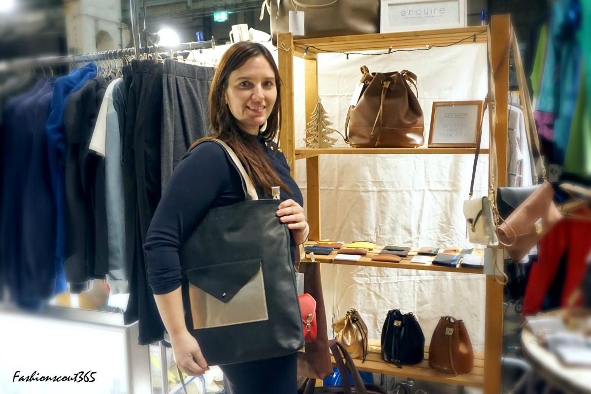 Mar, PR und Marketingdirektorin von @encuire - einer Marke für Ledertaschen und Accessoires aus Madrid.