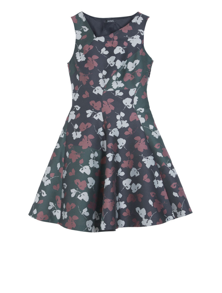 """Perpetuo"" dress with floral print in the female style, 100% polyester, Max&Co., 160 Euro (reduced)."