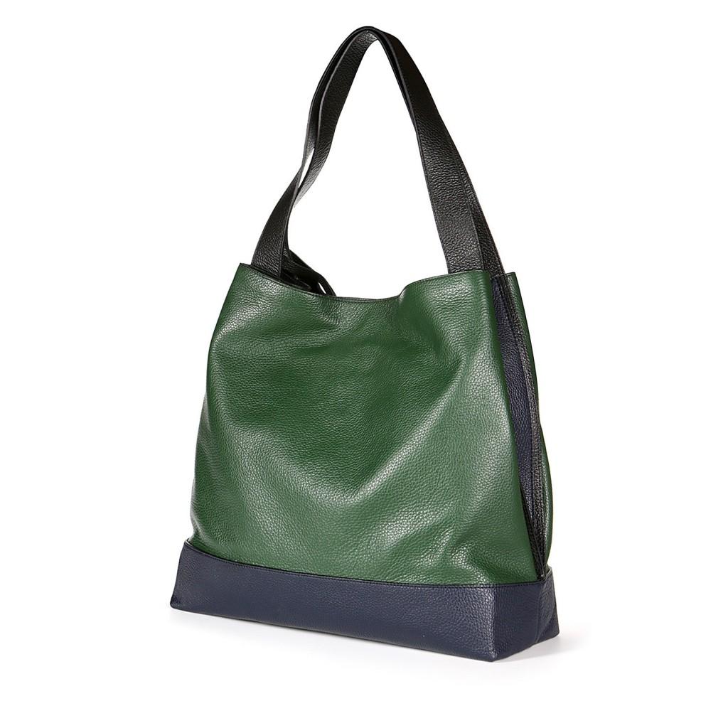 Hobo-сумка из кожи, ручная обработка, Studio Pollini, 190 евро (цена снижена).