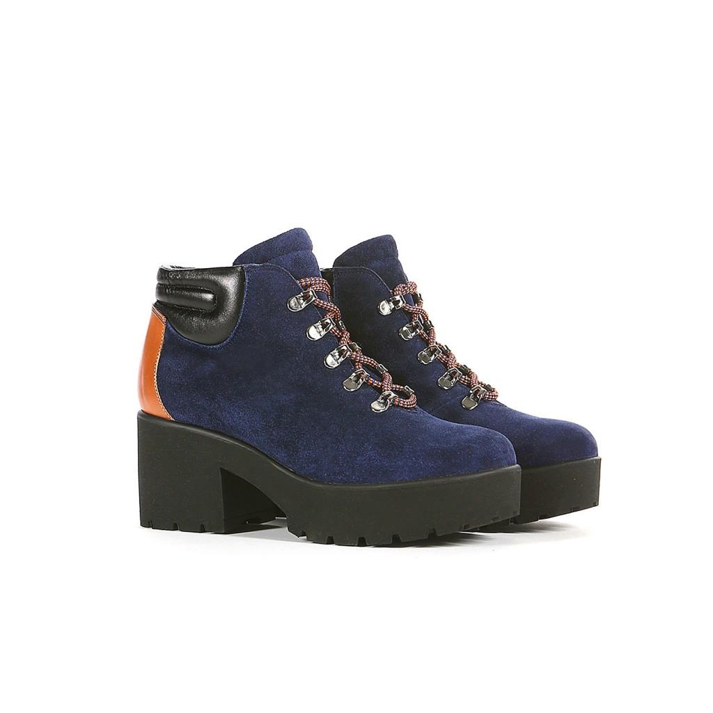 Модные ботинки на платформе (также в синем цвете), Studio Pollini FW15, 174 евро (цена снижена).