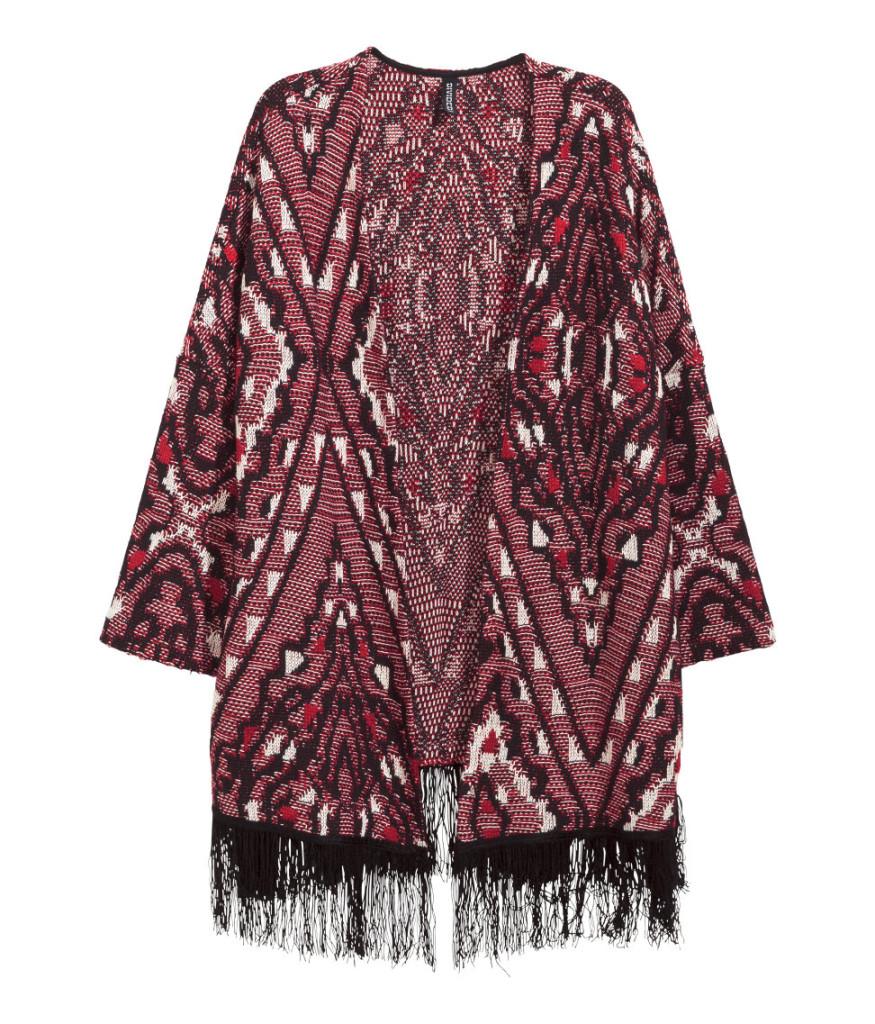 Tipps zu Top-Schnäppchen aus H&M Sale: bunte Jacke mit Fransen stark reduziert