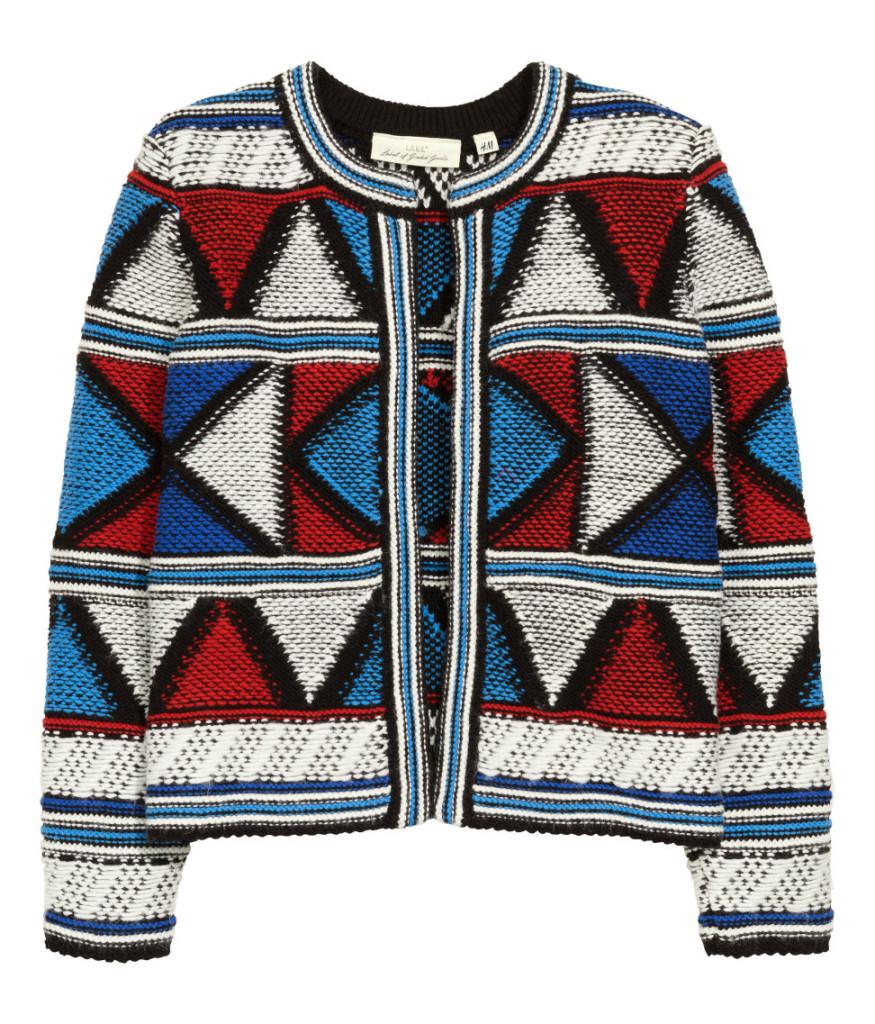 Modische Jacke mit dem geometrischen Print. Mode-Trends-2016 mit Rabatt kaufen - Tipps