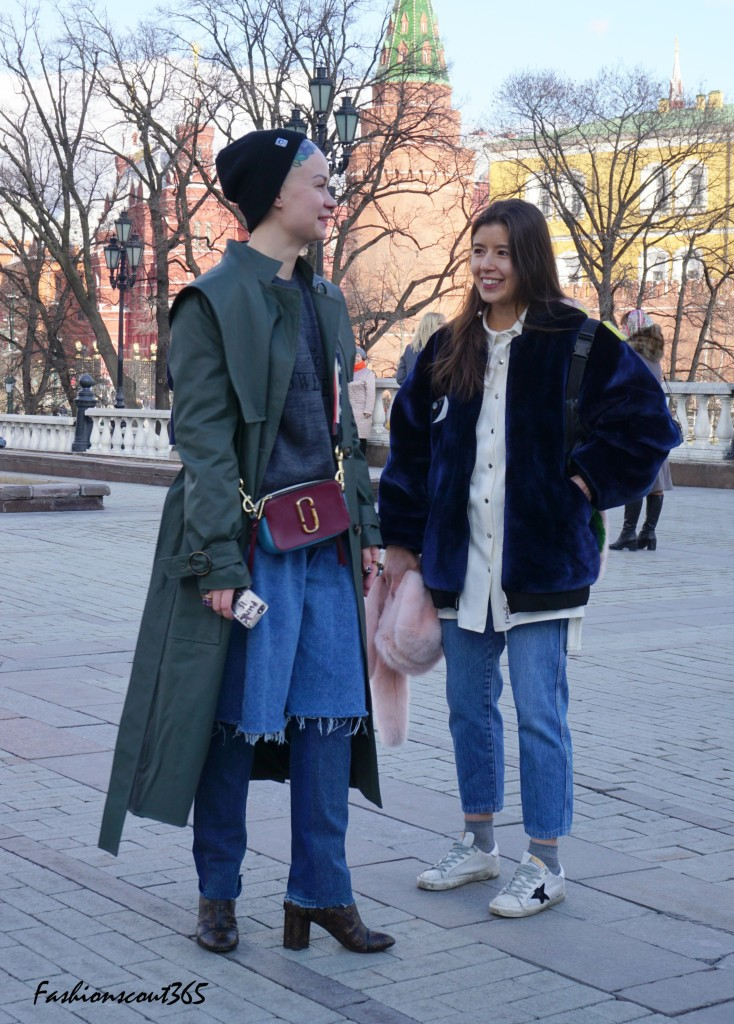Key fashion trends 2016 on the streets of Moscow: Trench coat in military style, denim and tattoos.
