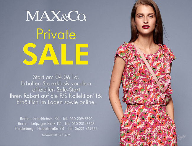max-and-co-presale-sommer-kollektion-2016-private-einladung
